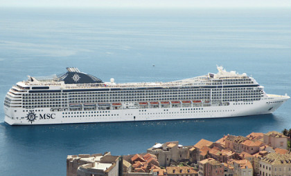cruiseschip MSC Musica van rederij MSC cruises