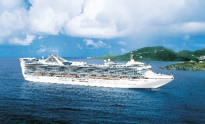 De Golden Princess van rederij Princess Cruises