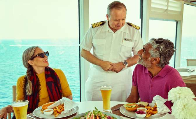 lunchen Seabourn Ovation