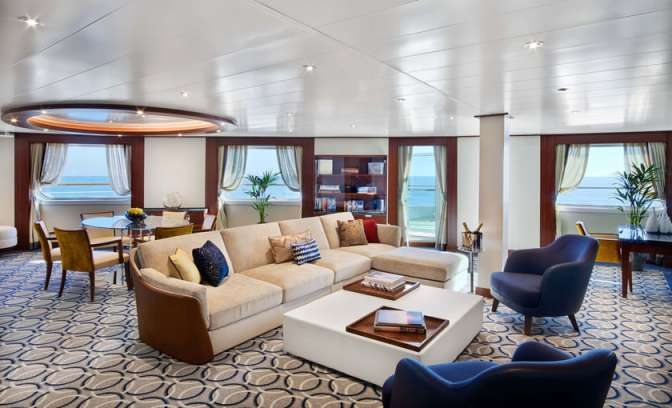 Signature suite van de Seabourn Ovation